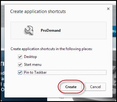 how to create website shortcut in google chrome