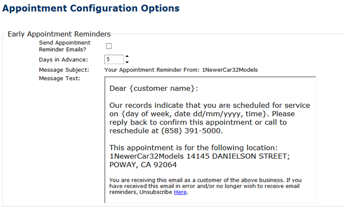 Appointment Reminder EmailsYou Schedule And Well Send