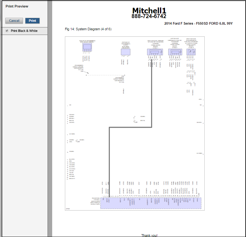 tips for viewing wiring diagrams in truckseries mitchell 1 shopconnection